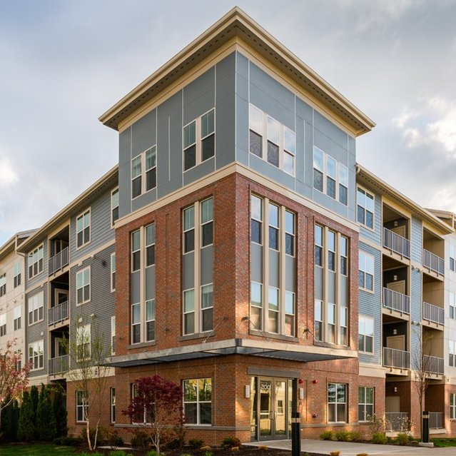 Exterior view of The Slate at Andover Apartments