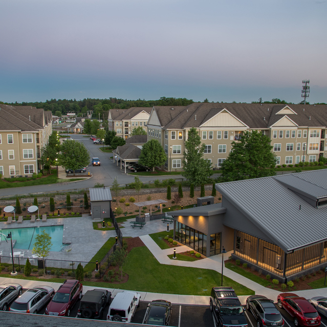 Aerial view of The Slate at Andover Apartments